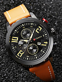 cheap Quartz Watches-Men's Wrist Watch Calendar / date / day / Water Resistant / Water Proof / Cool Leather Band Vintage / Casual / Fashion Black / Blue / Brown / Sony S626 / Two Years