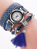 hesapli Moda Saatler-Kadın's Quartz Bilezik Saat PU Bant İhtişam / Bohem / Moda / Halhal Siyah / Beyaz / Kırmızı / Pembe