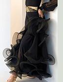 hesapli Balo Dansı Giysileri-Balo Dansı Alt Giyimler Kadın's Performans Splandeks Drape Düşük Etek