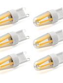 olcso Férfi pólók és atléták-6db 600 lm G9 LED betűzős izzók T 4 led COB Dekoratív Meleg fehér Hideg fehér AC 220-240V