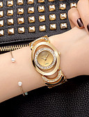 cheap Quartz Watches-Women's Bracelet Watch / Wrist Watch Imitation Diamond Alloy Band Charm / Sparkle / Vintage Silver / Gold / Sony S626 / Two Years