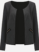 cheap Women's Blazers & Jackets-Women's Going out Plus Size Jacket - Solid Colored / Spring / Fall