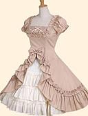 Χαμηλού Κόστους Φορέματα Λολίτα-Πριγκίπισσα Γλυκιά Λολίτα Γυναικεία Φούστα Cosplay Πράσινο / Ροζ Βραδινή τουαλέτα Κοντομάνικο Μεσαίου Μήκους Μεγάλα Μεγέθη Προσαρμοσμένη Κοστούμια