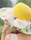 cheap Fashion Hats-Women's Holiday Straw Hat - Patchwork