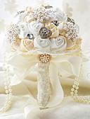 "cheap Wedding Dresses-Wedding Flowers Bouquets Wedding Party / Evening Taffeta Spandex Bead Lace Rhinestone Polyester Satin Foam 11.02""(Approx.28cm)"