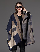 cheap Fashion Scarves-Women's Cotton Rectangle Print