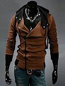 hesapli Erkek Kapşonluları ve Svetşörtleri-Erkek Büyük Bedenler Spor Günlük / Actif İnce Uzun Kollu hoodie Ceket - Solid