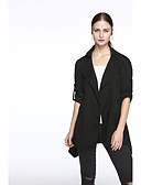 cheap Women's Coats & Trench Coats-Women's Cotton Jacket - Solid Colored, Classic Style