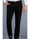 זול טישרטים לגופיות לגברים-בגדי ריקוד גברים כותנה ישר / צ'ינו / Business מכנסיים אחיד / עבודה