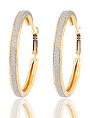 cheap Women's Downs & Parkas-Women's Hoop Earrings - Silver Plated, Gold Plated Gold / Silver For Wedding / Party