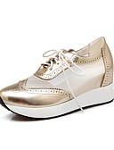 baratos Chaveiros de Lembrancinha-Mulheres Sapatos Courino Primavera / Verão / Outono Tênis Caminhada Plataforma Ponta Redonda Cadarço Prata / Azul / Rosa claro