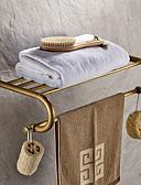 abordables Blusas para Mujer-Estantería de Baño Clásico Latón 1 pieza - Baño del hotel Doble