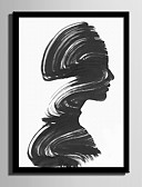 baratos Vestidos Femininos-Quadros Emoldurados Conjunto Emoldurado Abstrato Pessoas Arte de Parede, PVC Material com frame Decoração para casa Arte Emoldurada Sala
