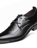 cheap Wedding Dresses-Men's Shoes Faux Leather Spring / Fall Comfort / Fashion Boots Oxfords Black / Brown / Party & Evening / Formal Shoes
