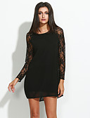 hesapli Kadın Elbiseleri-Kadın's Kombinezon Elbise - Solid Mini