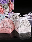 abordables Soportes para Regalo-Redondo Cuadrado Cilindro Papel perlado Soporte para regalo  con Estampado Cajas de regalos