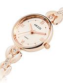 זול שעוני ילדים-KEZZI בגדי ריקוד נשים שעוני אופנה שעון יד קווארץ מגניב סגסוגת להקה אנלוגי יום יומי כסף / זהב ורד - כסף זהב ורד