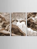 voordelige Damestops-Abstract Mensen Klassiek Europese Stijl, Drie panelen Kangas Verticaal Print Muurdecoratie Huisdecoratie