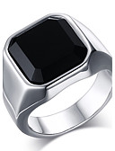 cheap Men's Belt-Men's Onyx Statement Ring Ring - Stainless Steel Vintage, Fashion 8 / 9 / 10 / 11 / 12 Gold / Silver For Daily Casual