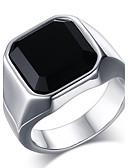 preiswerte Herren-Gürtel-Herrn Onyx Statement-Ring / Ring - Edelstahl Retro, Modisch 8 / 9 / 10 Gold / Silber Für Alltag / Normal