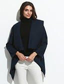 cheap Women's Coats & Trench Coats-Women's Trench Coat - Solid Colored, Classic Cowl / Spring / Fall / Winter