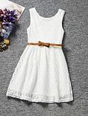 זול סטים של ביגוד לבנים-שמלה ללא שרוולים תחרה אחיד Party מתוק בנות ילדים