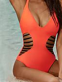 halpa Bikinis-Naisten Niskalenkki Musta Oranssi Pikkutuhmat Yksiosainen Uima-asut - Yhtenäinen Solmittava M L XL Musta / Seksikäs