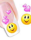 abordables Camisetas y Tops de Hombre-1 pcs Etiqueta engomada de la transferencia arte de uñas Manicura pedicura Moda Diario