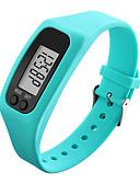 رخيصةأون ساعات رياضة-للرجال للمرأة ساعة رياضية ساعة المعصم ساعة رقمية رقمي عداد الخطى LCD كوول مطاط فرقة رقمي أسود / الأبيض / أزرق - أحمر أخضر أزرق / غني بالألوان