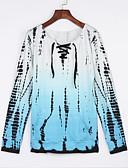 baratos Biquínis e Roupas de Banho Femininas-Mulheres Camiseta - Para Noite Estampado / Verão / Outono / Com Laço