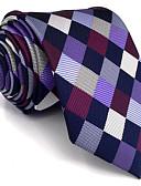 preiswerte Krawatten & Fliegen-Herrn Party Büro Grundlegend, Kunstseide Hals-Binder - Grundlegend Einfarbig Schachbrett Jacquard