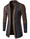 זול מכנסיים ושורטים לגברים-אחיד - קרדיגן רזה שרוול ארוך צווארון V סוף שבוע בגדי ריקוד גברים