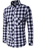 preiswerte Herrenhemden-Herrn Verziert Baumwolle Hemd