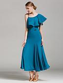 저렴한 볼룸 댄스 웨어-볼륨 댄스 드레스 여성용 성능 우유 섬유 주름장식 내츄럴 드레스