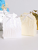 baratos Suporte para Lembrancinhas-Redonda Quadrada Criativo Papel de Cartão Suportes para Lembrancinhas com Fitas Estampado Caixas de Ofertas