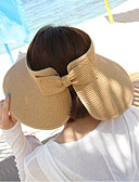 cheap Fashion Belts-Women's Holiday Straw Hat Sun Hat - Solid Colored