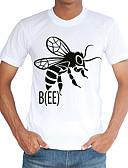 baratos Camisetas & Regatas Masculinas-Homens Camiseta - Esportes / Praia Moda de Rua Estampado Decote Redondo / Manga Curta