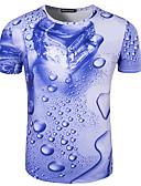 cheap Men's Hoodies & Sweatshirts-Men's Sports Active Cotton Slim T-shirt Print Round Neck