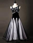 preiswerte Abendkleider-Für den Ballsaal Kleider Damen Leistung Chinlon / Organza Kristalle / Strass Ärmellos Kleid