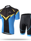 cheap Cycling Pants, Shorts, Tights-XINTOWN Men's Short Sleeves Cycling Jersey with Shorts - Yellow Animal Bike Shorts Jersey Clothing Suits, Quick Dry, Breathable,