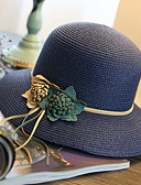 abordables Sombreros de mujer-Mujer Sombrero de Paja Sombrero para el sol - Chic de Calle Un Color