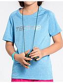 baratos Chapéus de Moda-Unisexo Camiseta de Trilha Secagem Rápida Leve Blusas para Esportes Relaxantes Verão M L XL