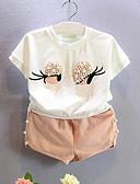 povoljno Kompletići za djevojčice-Djevojčice Pamuk Kolaž Dnevno Ljeto Kratkih rukava Komplet odjeće Crtići Obala