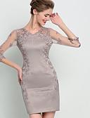 abordables Vestidos de Mujeres-Mujer Noche Sofisticado Corte Bodycon Vestido Bordado Sobre la rodilla Escote en Pico / Verano / Otoño