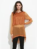 halpa T-paita-Naisten Polyesteri Paita, Yhtenäinen Patchwork
