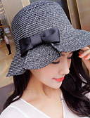 cheap Fashion Hats-Women's Holiday Straw Hat Sun Hat - Solid Colored