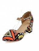 cheap Women's Dresses-Women's Shoes Leatherette / PU(Polyurethane) Spring / Summer Comfort / Novelty Heels Walking Shoes Chunky Heel / Block Heel Pointed Toe
