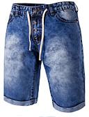זול טישרטים לגופיות לגברים-בגדי ריקוד גברים כותנה רזה ג'ינסים מכנסיים קולור בלוק