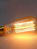 baratos Camisas Femininas-1pç 60 W E26 / E27 ST64 Branco Quente 2300 k Retro / Decorativa Incandescente Vintage Edison Light Bulb 220-240 V