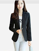 cheap Women's Blazers-Women's Work Basic Plus Size Blazer - Solid Color, Pure Color Basic